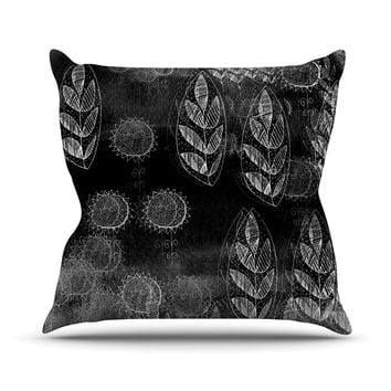 "Marianna Tankelevich ""Grey Dream"" Black Gray Outdoor Throw Pillow"