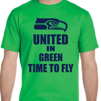 United in Green Time To Fly Seahawks Playoff  T-shirt Men Women Youth XS to 6XL sizes