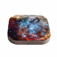 "Suzanne Carter ""Star Cluster"" Blue Space Coasters (Set of 4)"