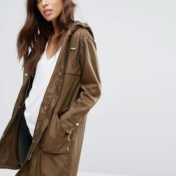 New Look Lightweight Festival Parka at asos.com