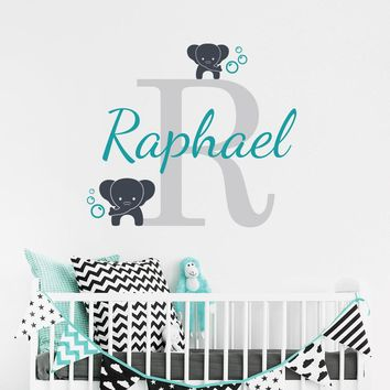 Customized Name Elephant Wall Decall