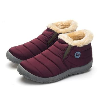 Warm shearling lined casual ankle boots