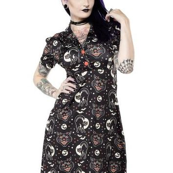 "Women's ""Lucy Fur"" Rosie Dress by Sourpuss (Black)"