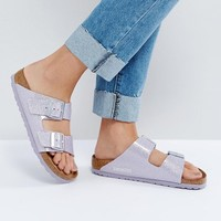 Birkenstock Arizona Lavender Magic Galaxy Flat Sandals at asos.com