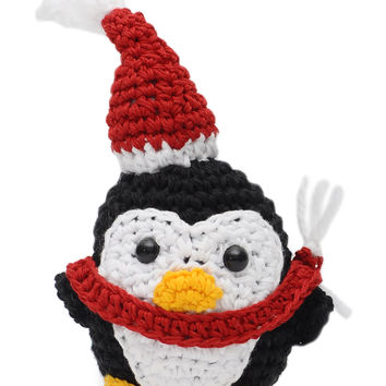 Muticolor Penguins Handmade Amigurumi Stuffed Toy Knit Crochet Doll VAC