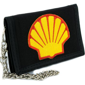 Shell Gas Station Tri-fold Wallet Alternative Clothing 90's Grunge Style