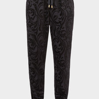 Versace Velvet Baroque Drawstring Pants for Men | US Online Store