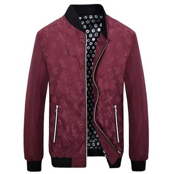 Floral Pattern Printed Slim Fit Jacket