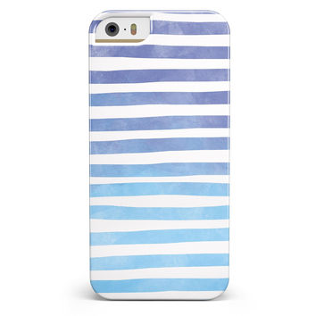 Blue WaterColor Ombre Stripes iPhone 5/5s or SE INK-Fuzed Case
