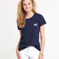 Nautical Whale Flag Pocket Tee