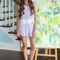 I Knew You Were Trouble Romper-Lilac