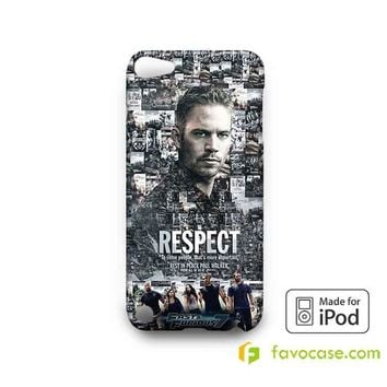 Fast and Furious 7 Paul Walker Memoriam  iPod Touch 4 5 6 Case