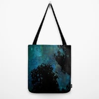 Blue, Trees, Sky, Stars  - Tote Bag - 3 Sizes Available - Grocery, Beach, Busy Mom, Student, Teacher, Coworker - Made To Order - NSIJ#76