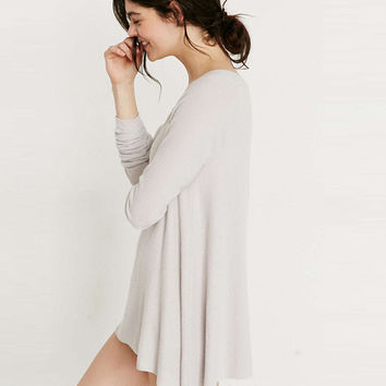 Long Sleeve Asymmetrical Dress-Top