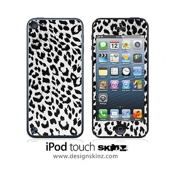 White & Black Leopard iPod Touch 4th or 5th Generation Skin