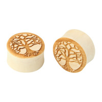 Urban Star Tree Of Life Crocodile Wood Plug 2 Pack