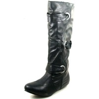 Women's Just 4 U 3156 Leather Boots Fashion Shoes