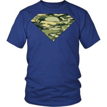 MILITARY CAMOUFLAGE SUPERMAN t-shirt