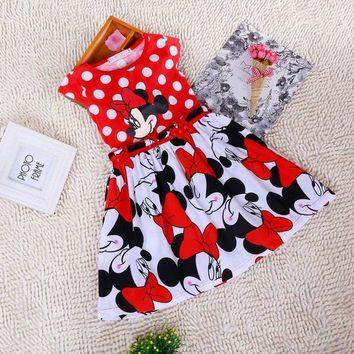 Short Sleeve Minnie Mouse Dresses