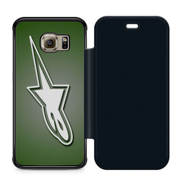 Alpinestars Logo Leather Wallet Flip Case Samsung Galaxy S6 Edge
