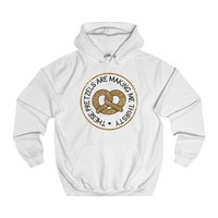 Oktoberfest Party Shirt - The Pretzels Are Making Me Thirsty College Hoodie