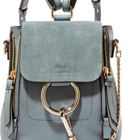Chloé - Faye mini leather and suede backpack