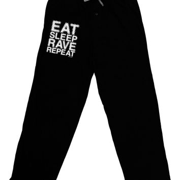 Eat Sleep Rave Repeat Adult Lounge Pants by TooLoud