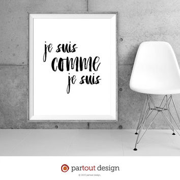 Printable Art Jacques Prévert poem Minimalist art print Typographic art Printable poem Literary poster Poetry art print French art print