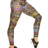 Womens Emoji Performance Leggings