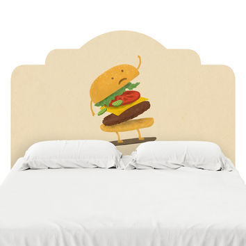 Burger Wipe Out Headboard Decal