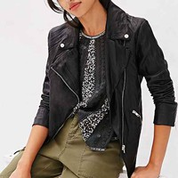 BB Dakota Merlyn Vegan Leather Jacket- Black