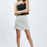 Stripe Giant Scallop Skirt - Skirts - Clothing