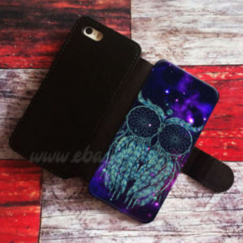 Dream catcher Wallet iPhone cases Owl Samsung Wallet Leather Owl Phone Case