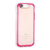 ULAK [LUMENAIR] Slim Hybrid Clear Back Panel + Luminous Bumper Case for Apple iPhone 6 4.7 Inch with Incoming Call Flash Message Blink Function (Pink)