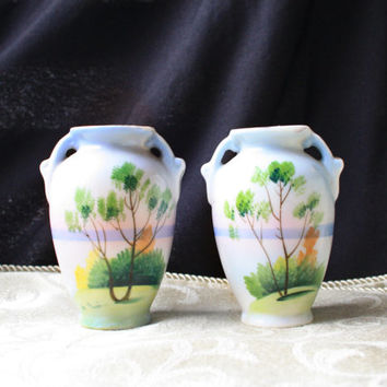 1940s Miniature Vintage Japanese Vase - Set of 2