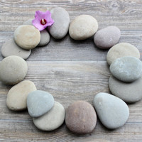 Beautiful Smooth Lake Stone Collection , Stones for Painting , Wedding Table Numbers and Garden Decoration