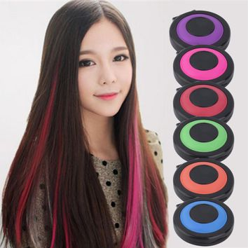 Non-toxic 6-colors Hair Color Crayons Temporary Hair Dye Powder Chalk