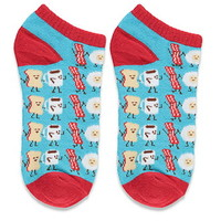Breakfast Graphic Ankle Socks