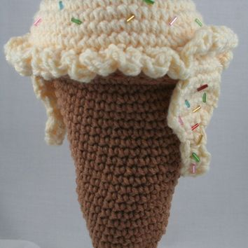 Ice Cream Cone Purse Crochet Pattern - Cute for Spring and Summer - Instant Download