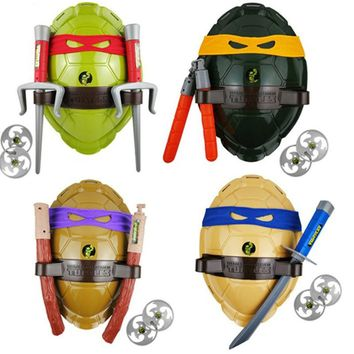 Anime Teenage Mutant Ninja Turtles Weapons Suit Cosplay Boys Leonardo Toy Shell Prop Weapon Set for Kids Cosplay Christmas Gifts