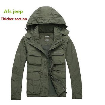 New autumn winter military 100% Nylon outdoors windbreaker,waterproof jacket, Multifunction army warm uniform plus size M-3XL