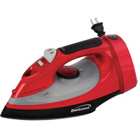 Brentwood Full-size Stream Spray & Dry Iron (red With Cord Storage; 1400w)
