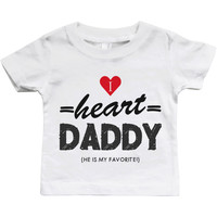 Graphic Snap-on Style Baby Tee, Infant Tee - I Heart Daddy
