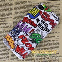 Fashion Cool Colorful words Hard case cover For Apple iPhone 4,iPhone 4s 4g