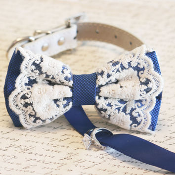 Royal blue Dog Bow Tie, Dog ring bearer, Pet Wedding accessory