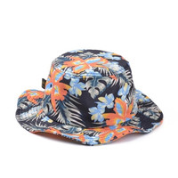Women Men's Floral Hawaiian Print Bucket Hat Flower Pattern Cap Beach Fishing Outdoor  Free Shipping 2017 New Fashion Hats