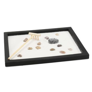 Newest Zen Garden Sand Kit Tabletop Yoga Meditation Sand Rocks Rake Feng Shui Decor Home Ornament Crafts