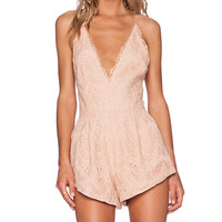 Style Stalker Mermaid Romper in Blush