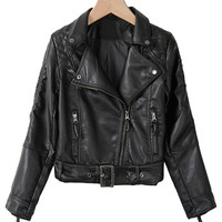 Leather jacket - On Stage - Leather jackets - Jackets & Outerwear - Women - Modekungen