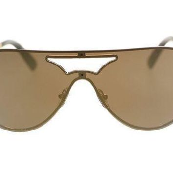 Versace Womens Sunglasses Ve2161 1002f9 Gold/brown Mirror Gold Authentic